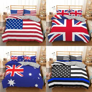 Homesky stelle strisce Bandiera Bedding Set American Flag 3D copripiumino Re Regina Bedding Regno Unito Biancheria