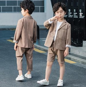 Girls Boys Suits for Weddings Kids clothes Blazer Suit for Boy Costume Toddler Boys Blazer + pants Set Formal Children Clothes