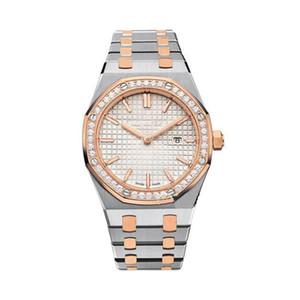 Sınırlı kadınlar elmas Klasik Model Antik saatı Yüksek Kalite Altın / Gümüş Paslanmaz Çelik Kuvars Lady Saatler saatler
