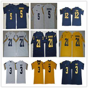 2020 NCAA Мичиган росомахи 3 Рашан Gary 5 Джабрилл Пепперс 21 Десмонд Ховард 10 Том Брэди Крис Эванс 12 трикотажных изделий футбола S-3XL