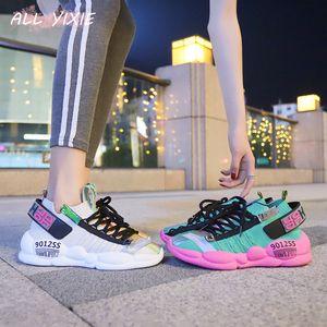 2019 Мода лето женщина кроссовки осень Коренастый женщин кроссовки женщин платформы кроссовки обувь Холст обувь Zapatos De Mujer Y200108