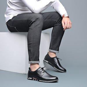 2019 nuovi uomini di cuoio genuino pattini Mens Slip-on comodo di affari che lavora Trending Mocassini uomo casual Scarpe Travel Office