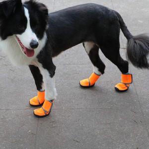 작은 개 고양이 강아지 신발을위한 새로운 12 piece / 설정 애완 동물 개 겨울 신발 비 눈 방수 부티 양말 고무 미끄럼 방지 신발