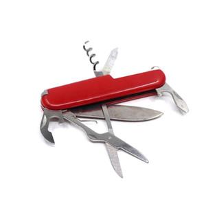 Migliore regalo 7 in 1 multifunzionale di campeggio esterna di sopravvivenza strumenti coltello apribottiglie cacciavite famiglia multifunzione pieghevole coltello tascabile