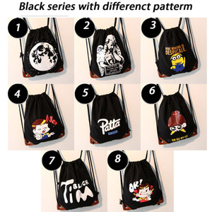 8pcs Drawstring Backpack 8Style Girls Princess Kids Party Backpack Candy Bags 37*42cm School backpack Rucksack