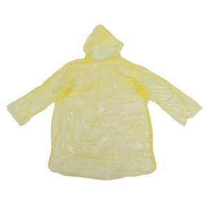 10Pcs Disposable Hooded Poncho Emergency Raincoat Adult Camping Hiking Travel Raincoats