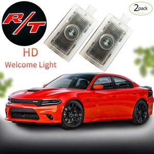 2Pcs Car Projection LED Projector Door Shadow Light Welcome Light Laser Emblem Logo Lamps Kit For Dodge(R T), No Drilling