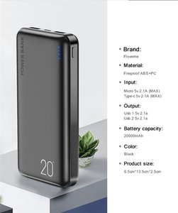 Power Bank 20000mAh Portable Charging Poverbank Mobile Phone External Battery Charger Powerbank 20000 mAh for Xiaomi Mi