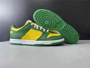 2020와 상자 새 남성 여성 SB 덩크 로우 Barzil 녹색 노란색 스케이트 신발 명품 디자이너 트레이너 스포츠 Athentic 스니커즈