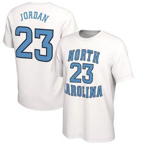 NCAA North Carolina Tar Heels-T-Shirt 15 Carter Der letzte Tanz 23 Michael MJ Mens Design T-Shirts Uni-Blau übersteigt Stück gedruckt Basketball