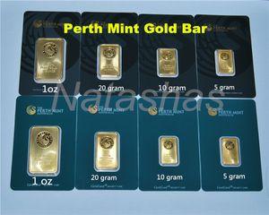 5/10/20 / 31gram The Perth Mint Plaqué or Bullion Bar 999 FIN Australie copie or plaque bar Vert / noir blister qualité vente chaude