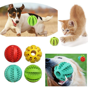Pet Dog Toy Rubber Ball Toy Funning Light Green ABS Pet Toys Ball Dog Chew Toys Tooth Cleaning Balls of Food ST135
