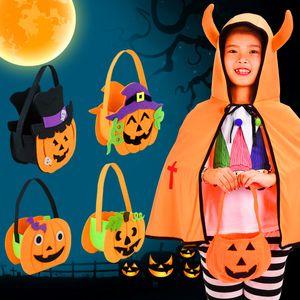 2019 Halloween-Dekoration-Geschenk Candy Bag Pappe DIY Kürbis-Tasche Einkaufstasche Non-Woven BRW Einkaufstaschen