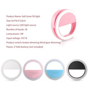 Handy-Schönheits-Fill-Licht, Round Wiederaufladbare LED Ring-Foto-Licht, beweglicher Live-Selfie Beauty Light