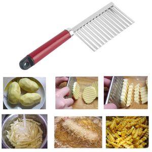 Nuovo Potato Knife Patatine In Acciaio Inox Pasta Verdura Crinkle Ondulato Cutter Alta Qualità Affettatrice Frutta Coltello Cibo di buona qualità
