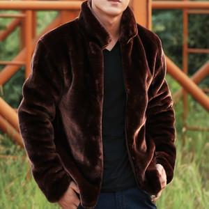 Европейская мода новых людей теплый меховой воротник искусственного меха Пальто Мужской Короткие куртки Плюс Размер 8XL Черный Повседневный Мотоцикл Байкер
