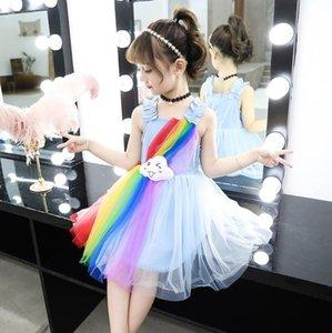 principessa abito estivo coreana versione super stile TUTU dell'arcobaleno delle nuove ragazze del pannello esterno 2 colori Trasporto libero