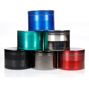 CHROMIUM CRUSHER Grinder 6 Colors 4 Layers Herb Grinders Metal Zinc Alloy 43*63mm Diameter Grinding Smoke Cigrette Smoking Accessories