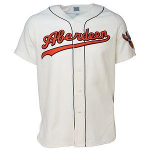Aberdeen Pheasants 1958 Home Jersey 100% brodé Logos de baseball Vintage Maillots Personnalisé N'importe quel Nom N'importe quel Nombre