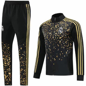 2019 년 2020 년 레알 마드리드 한정판 운동복 축구 재킷 전체 지퍼 운동복 위험 2019 년 2020 타이츠 드 발 ISCO 제임스 survêtement