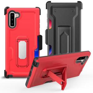Телефон Чехлы для Galaxy S20 Примечания 10 Note10 Pro Defender Case клипса кобура Combo Kickstand Стенд подгонки монтажа Магнит Жестких карты Кармана