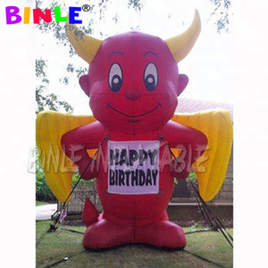 Small demon mascot inflatable bull devil for halloween party event ideas