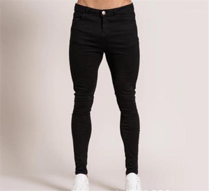 Jeans Stretch Washed Holes Long Mens Jeans Spring Denim Casual Male Long Trousers Slim Mens Designer