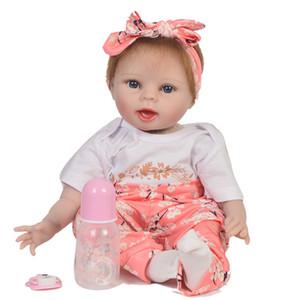 Reborn Gerçek Bebekler 22 inç 55 cm silikon reborn baby doll oyuncaklar hediye bebe canlı reborn menina bonecas sıcak satış npk doll