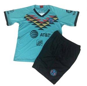 20 21 Çocuk Seti Club America Soccer Jersey ve Şort 2020 MX LIGA UNAM Boys Futbol Çocuklar Futbol unforms ayarlar