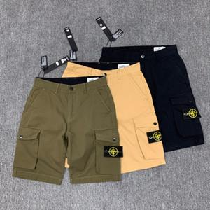 2020SS bolsillo lateral de piedra de lavado de herramientas pantalones cortos casuales pantalones isla de herramientas de cinco puntos 30-36