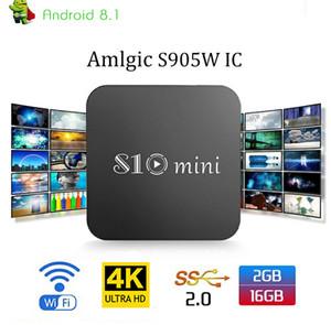 S10 mini Android 8.1 TV Box Quad Core 2 GB 16GB Amlogic S905W 2.4G Wifi 4K Media Player VS X96 mini Tx3