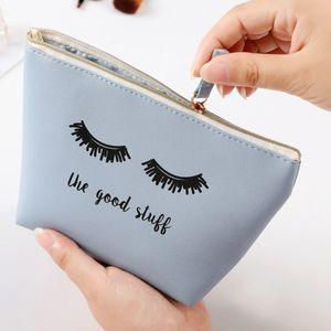 Новая сумочка Каваи ресницы косметичка PU макияж сумка красота дело тщеславие макияж сумка для женщин организатор путешествия комплект