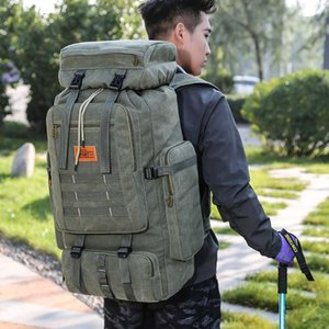 70L Large Mountaineering Backpack Camping Hiking Molle Waterproof Camo-Repellent Tactical Terkking Bag Outdoor XA229G