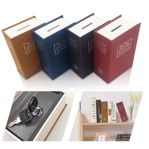 Dizionario Cassaforte Prenota Denaro Hidden Secret Security sicuro della serratura Cash Money Coin bagagli Gioielleria Locker chiave per il capretto regalo SH190929