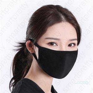 unisexe lavable Masque solide couleur noire bouche moufles Gardez masques chauds épais Respirant réutilisables randonnée à vélo Masque En stock D42009
