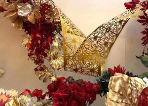 Iron art free curve prop wedding ceiling Carved Pendant party backdrops wall flower rack hanging pieces variety modeling network