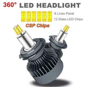 Vehicle D1S D2S D3S D4S H1 H7 LED H8 H11 9012 HB3 9005 HB4 12sides 3D Led Headlights 18000LM Near Far diode Auto Lamp