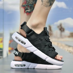 Summer Sandals Man Mesh Air Cushion Outdoor Casual Open Toe Slippers Male Korean Versio Breathable Fashion Shoes Men Y200702