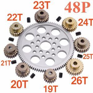 Metal 48P Pignon 92T 85T 80T Pignon 19T 20T 21T 22T 22T 23T 24T 25T 26T 26T Pour Sakura R31 G31 SCX10 AX10 Traxxas HPI