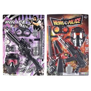 TW2004051 Flint vibrierende Gun Police Set Zwei Arten sortiert Pull-Trigger guns Spielzeug für gun Spielzeug Kind-Shooter