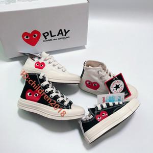 JUEGO zapatos del patín de la marca de las Estrellas 70 Hola C-D-G 2020 zapatos de lona de alta calidad Blanco Negro Chuck Taylor zapatillas de deporte al aire libre Casual Tamaño 36-44