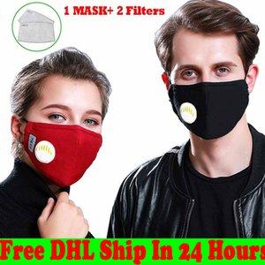Masque Filtre carbone Masque anti-buée et PM2.5 Activé Masques carbone coton masque respiratoire usine Valve Masques en gros