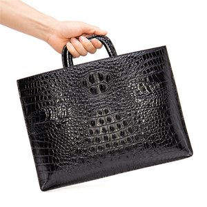 Travel Genuine Leather Pattern Men's Cow Bag Men's Briefcase Bags Crocodile Leather Briefcase Laptop Alligator Messenger Jgxch