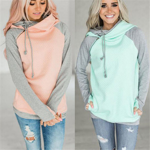 2020 толстовки кофты женщины пуловер толстовка женская Лоскутная двойной капюшон толстовка с капюшоном осеннее пальто теплый капюшон XXXL