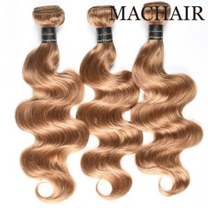 Honey Blonde Brazilian Hair Weave Bundles Straight 3pcs #27 Color 100% Human Hair Bundles Remy Hair Weaves Extensions