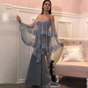 Elegant Sequin Mermaid Evening Dresses Sexy Sweetheart Prom Dresses Long Sleeves Chiffon Formal Party Dress Custom Made