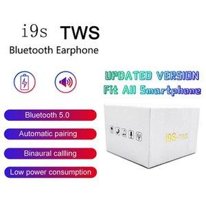 في المخزن! I9s TWS wireless Mini Bluetooth headset stereo heads sports wireless heads silicone cover, DHL transport