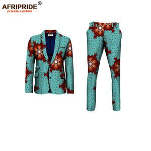 2019NEW AFRIPRIDE personnalisés privé vêtements pour hommes africains mince veste de costume formel + pantalon ajusté lieu de travail de mariage d'affaires A731602
