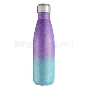 500 мл Кола бутылки с водой из нержавеющей стали двойной стенкой изолированный блеск стакан бутылки колы Спорт на открытом воздухе кемпинг пешие прогулки HHA1021
