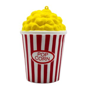 PU Popcorn Cup Squishy Slow Rising Decompression Easter Phone Strap Squeeze Toy Gift Toys Stress Relief Reliever HOOLER